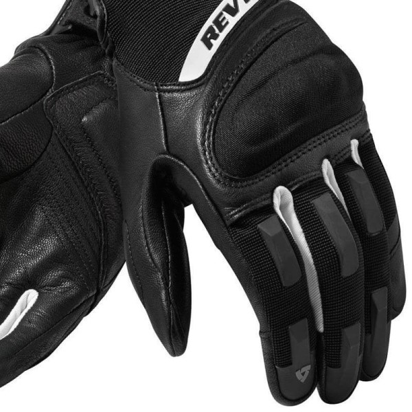 Motorcycle Gloves REVIT Striker 3 Woman Black Silver