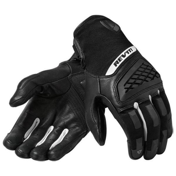 Motorcycle Gloves REVIT Neutron 3 Black White