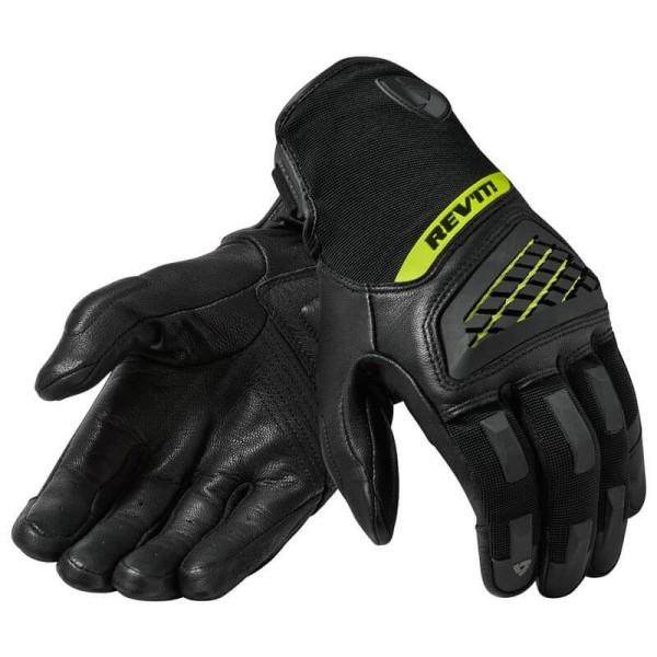 Motorcycle Gloves REVIT Neutron 3 Black Yellow