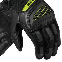 Motorcycle Gloves REVIT Neutron 3 Black Yellow ,Motorcycle Leather Gloves