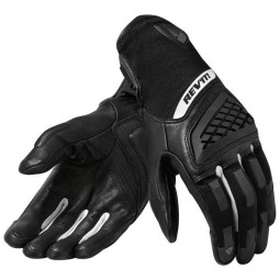 Motorcycle Gloves REVIT Neutron 3 Woman Black White, Motorcycle Leather Gloves