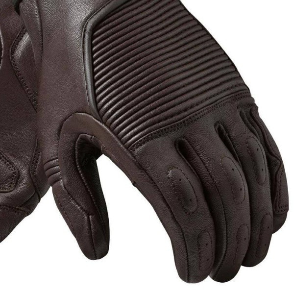 Gants moto en cuir REVIT Bastille Marron