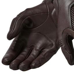 Motorcycle Gloves Leather REVIT Bastille Brown