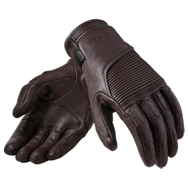 Motorcycle Gloves Leather REVIT Bastille Woman Brown, Motorcycle Leather Gloves