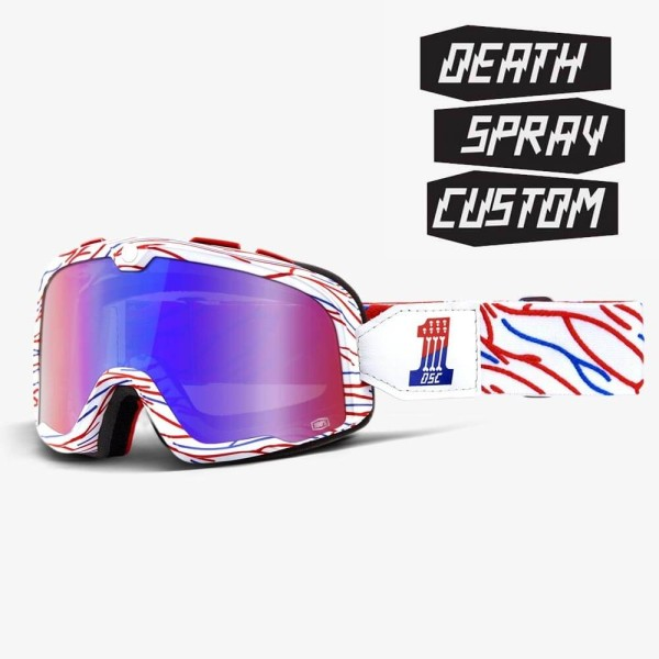 Motorcycle Goggles 100% Barstow DEATH SPRAY CUSTOMS