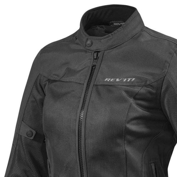 Motorcycle Fabric Jacket REVIT Eclipse Woman Black