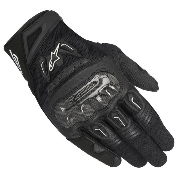 Motorrad-Handschuhe Alpinestars SMX-2 Air Carbon V2 Schwarz