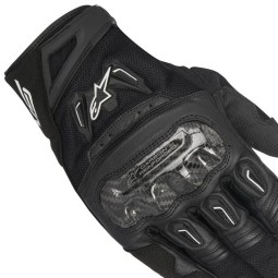 Motorcycle Gloves Alpinestars SMX-2 Air Carbon V2 Black ,Motorcycle Leather Gloves