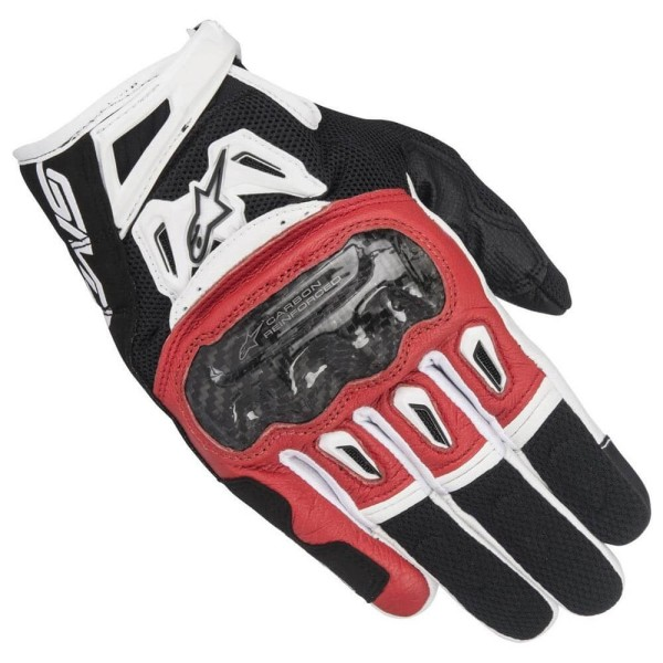 Motorrad-Handschuhe Alpinestars SMX-2 Air Carbon V2 Schwarz Rot