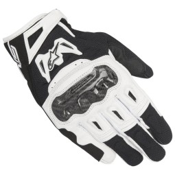 Motorcycle Gloves Alpinestars SMX-2 Air Carbon V2 Black White ,Motorcycle Leather Gloves