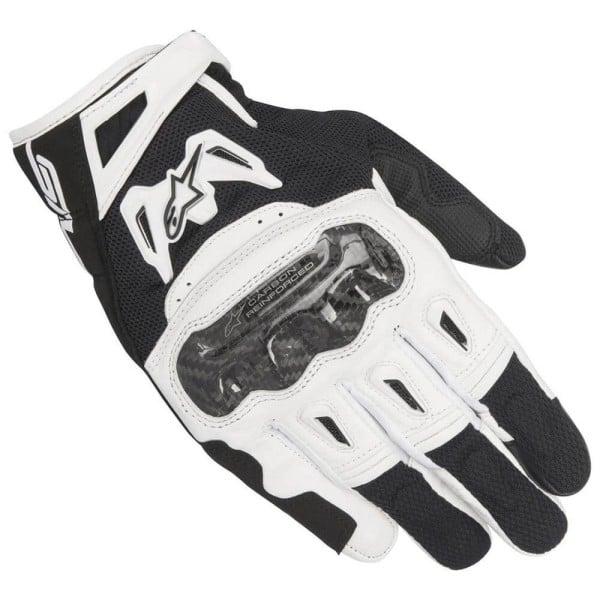 Gants Moto Alpinestars SMX-2 Air Carbon V2 Noir Blanc