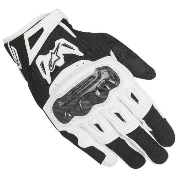 Motorrad-Handschuhe Alpinestars SMX-2 Air Carbon V2 Schwarz Weiß