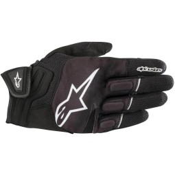 Motorcycle Gloves Alpinestars Atom Black White ,Motorcycle Textile Gloves