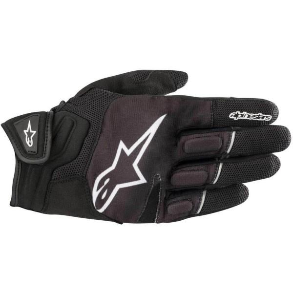 Motorcycle Gloves Alpinestars Atom Black White