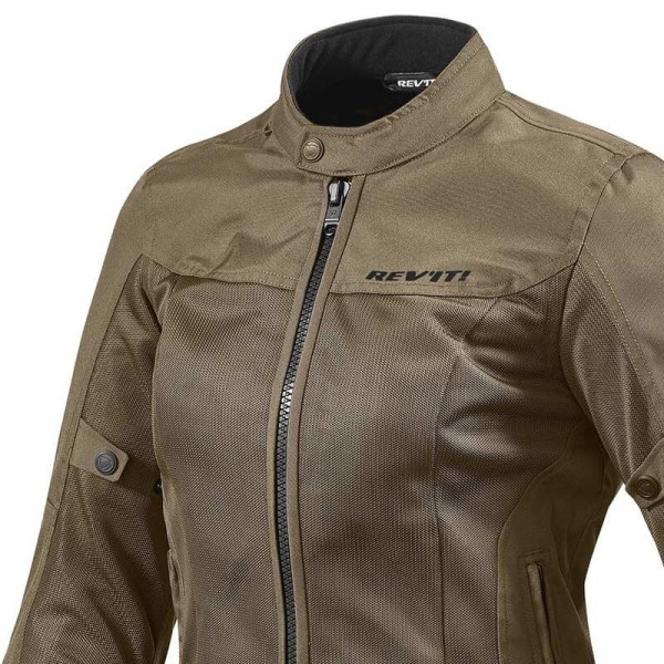 Motorcycle Fabric Jacket REVIT Eclipse Woman Brown