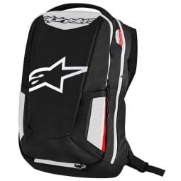 Motorcycle Backpack Alpinestars CITY HUNTER Black White Red ,Motorcycle Bags / Backpacks