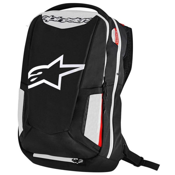 Motorcycle Backpack Alpinestars CITY HUNTER Black White Red