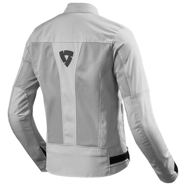 Motorcycle Fabric Jacket REVIT Eclipse Woman Silver