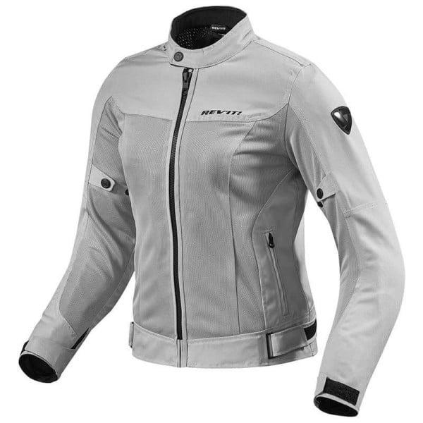 huge discount 7cc2f 8f569 Giubbotto Moto Tessuto REVIT Eclipse Donna Argento