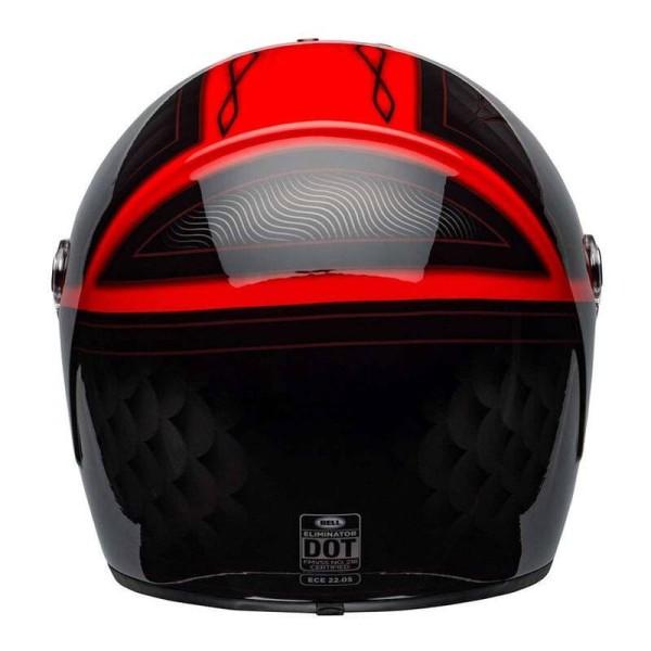Motorrad Helm BELL HELMETS Eliminator Outlaw Red