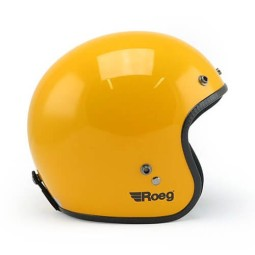 Casco Moto Vintage ROEG Moto Co JETT Gloss Yellow, Caschi Jet