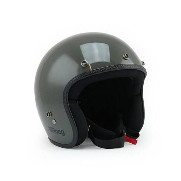 Motorcycle Helmet Vintage ROEG Moto Co JETT Slate Grey Gloss