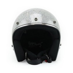 Casco Moto Vintage ROEG Moto Co JETT Disco Ball Silver