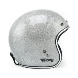 Motorcycle Helmet Vintage ROEG Moto Co JETT Disco Ball Silver