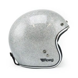 Motorrad Helm Vintage ROEG Moto Co JETT Disco Ball Silver