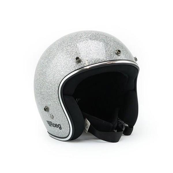 Casco Moto Vintage ROEG Moto Co JETT Disco Ball Silver