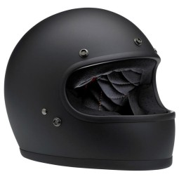Casco Moto Vintage BILTWELL Gringo Flat Black , Caschi Vintage