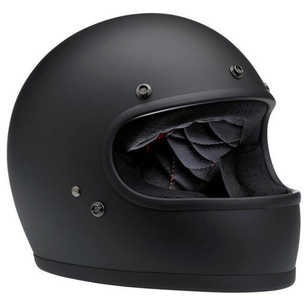 Casco Moto Vintage BILTWELL Gringo Flat Black
