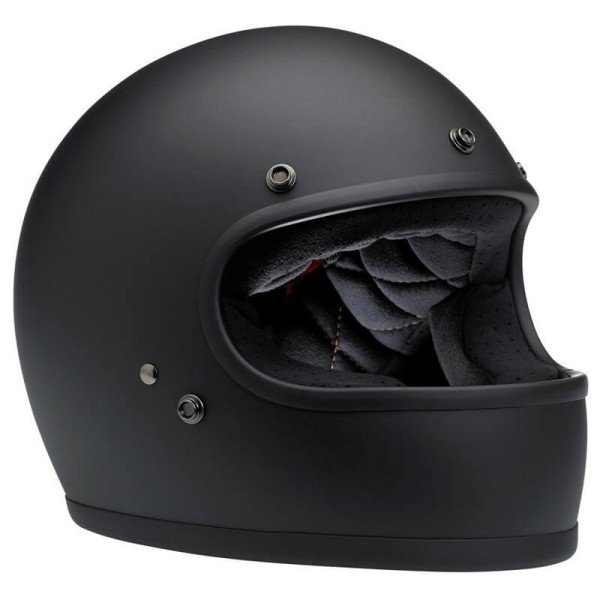 Casque Moto Vintage BILTWELL Gringo Flat Black