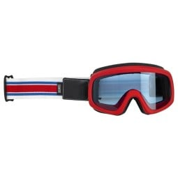Motorcycle Goggles BILTWELL Inc Overland 2.0 Racer Red Blue ,Motorcycle Goggles / Masks