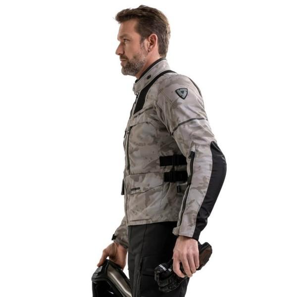 Motorrad Jacke REVIT Offtrack Sand Schwarz