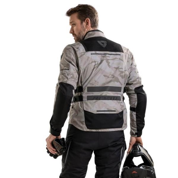Motorcycle Jacket REVIT Offtrack Sand Black