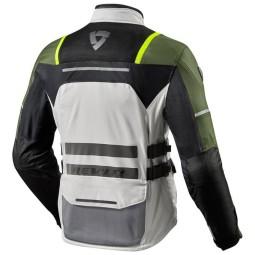 Giacca Moto REVIT Offtrack Argento Verde, Giubbotti e Giacche Tessuto Moto