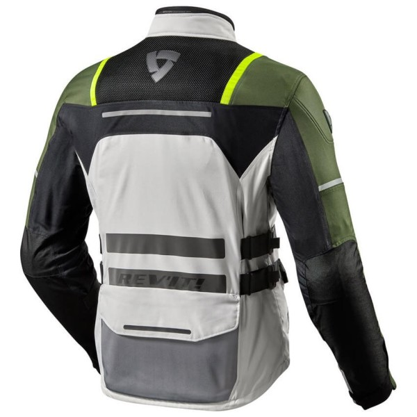 Motorcycle Jacket REV'IT Offtrack Silver Green