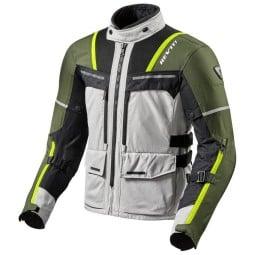 Giacca Moto REV'IT Offtrack Argento Verde, Giubbotti e Giacche Tessuto Moto