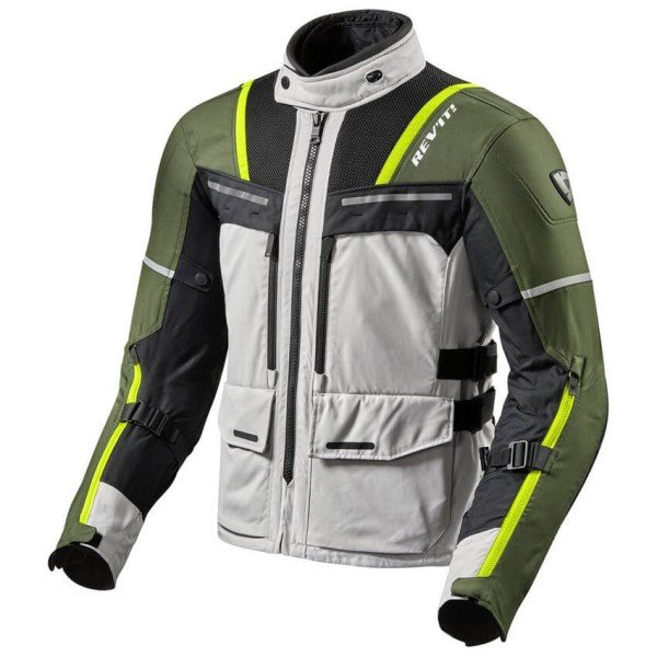 Motorcycle Jacket REVIT Offtrack Silver Green ,Motorcycle Textile Jackets