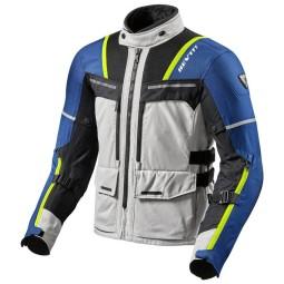 Blouson Moto REVIT Offtrack Argent Bleu ,Blousons et Vestes Moto Tissu