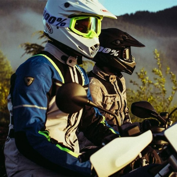 Chaqueta Moto REVIT Offtrack Plata Azul