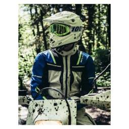 Motorrad Jacke REVIT Offtrack Silber Blau