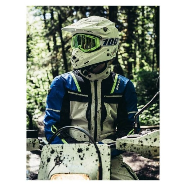 Blouson Moto REVIT Offtrack Argent Bleu