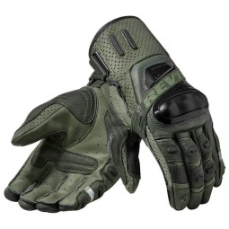 Motorcycle Gloves Leather REVIT Cayenne Pro Green Black ,Motorcycle Leather Gloves