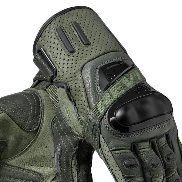 Guantes de cuero moto REVIT Cayenne Pro Verde Negro