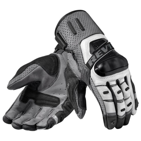 Motorcycle Gloves Leather REVIT Cayenne Pro Silver Black ,Motorcycle Leather Gloves