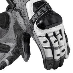 Motorcycle Gloves Leather REVIT Cayenne Pro Silver Black ,Motorcycle Leather Gloves