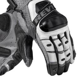 Motorradhandschuhe Leder REVIT Cayenne Pro Silber Schwarz ,Motorrad Lederhandschuhe