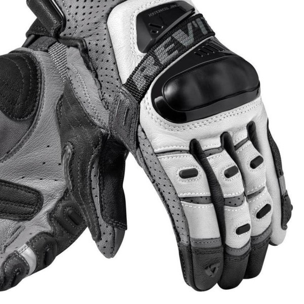 Motorradhandschuhe Leder REVIT Cayenne Pro Silber Schwarz
